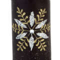 Special Black and Gold Christmas Pillar Candle